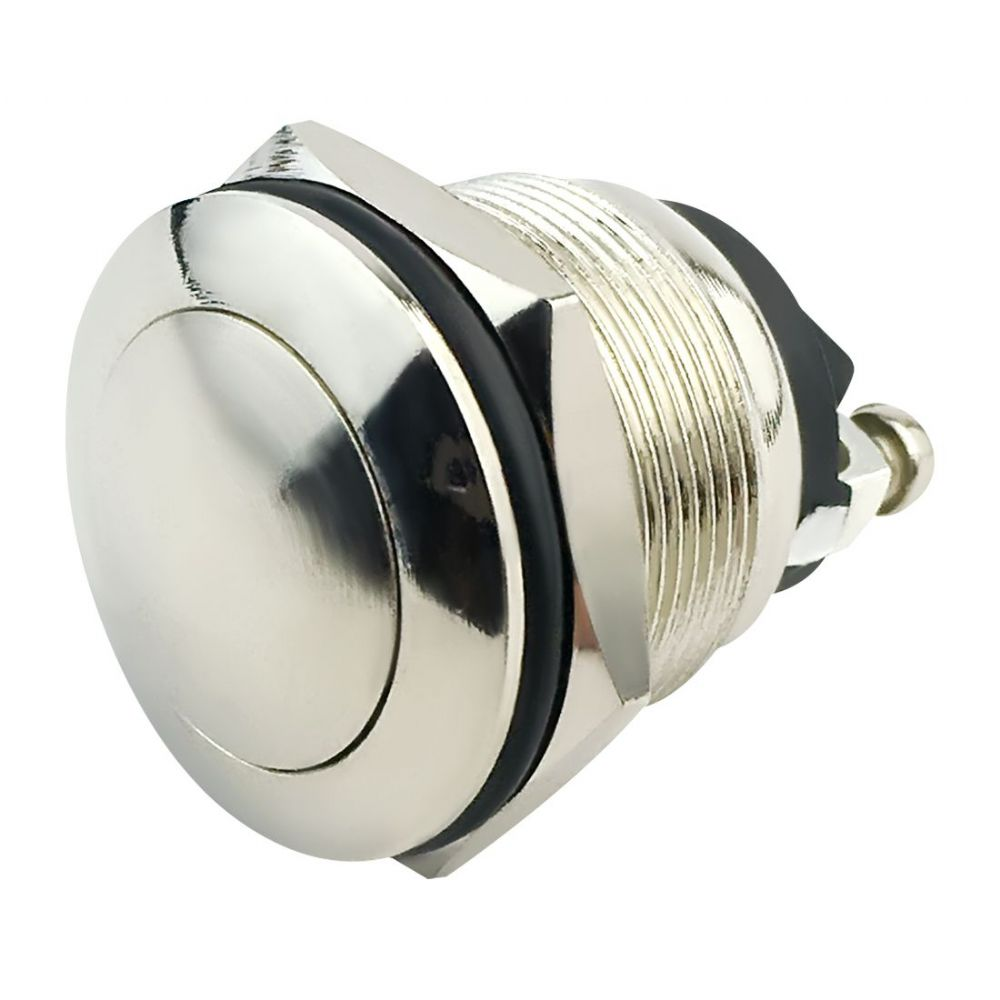12V 20A Brass Plated Push Button Switch